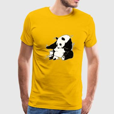 panda sneeze - Men's Premium T-Shirt