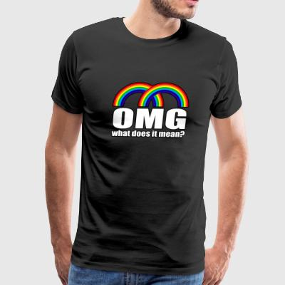 Double Rainbow What Does It Mean?  - Men's Premium T-Shirt