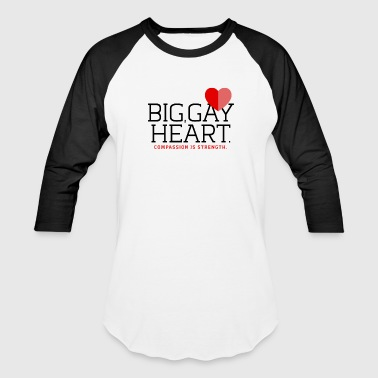 "Big Gay Heart"" T-Shirt - Baseball T-Shirt"