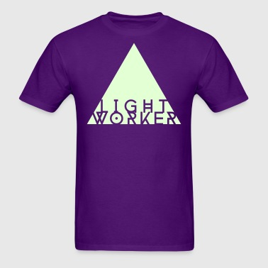 Light Worker T-shirt (glow in the dark on purple) - Men's T-Shirt