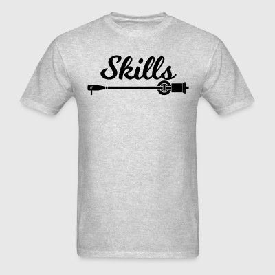 Skills Man Shirt Black Font - Men's T-Shirt