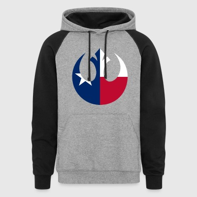 Texas Rebel Black/Blue/Red Hoodie - Colorblock Hoodie