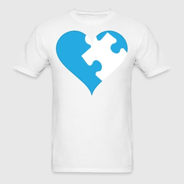 ASD - Autism Puzzle Piece Heart - Men's T-Shirt