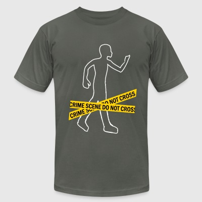Crime Scene men t-shirt by American apparel - Men's T-Shirt by American Apparel