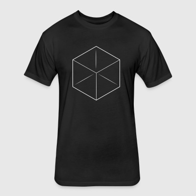 3D Cube Tee Shirt - Fitted Cotton/Poly T-Shirt by Next Level