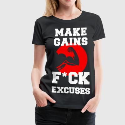 Make Gains - Women's Premium T-Shirt