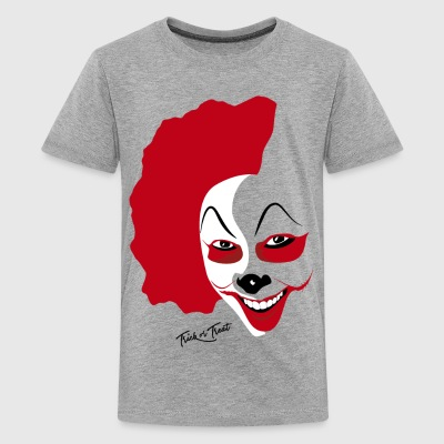 Halloween Clown Mask - Kids' Premium T-Shirt