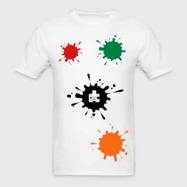 Green Ink Splat T-Shirts - Men's T-Shirt