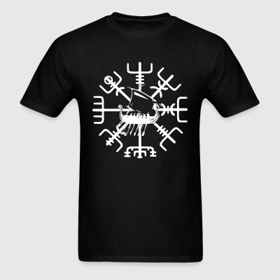 Vegvisir and Longship - Men's T-Shirt