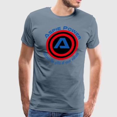 Sky Blue T-Shirt with Aspie style - Men's Premium T-Shirt