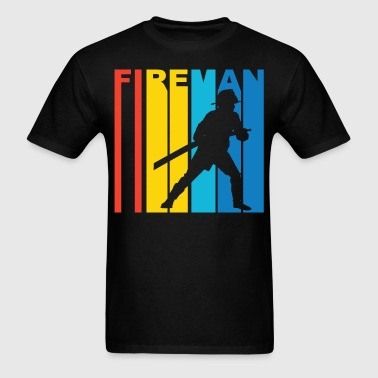 Fireman Silhouette Firefighter T-Shirt - Men's T-Shirt