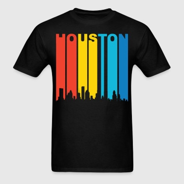 Retro 1970's Houston Texas Skyline Shirt - Men's T-Shirt