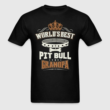 World's Best Pit Bull Grandpa T-Shirt - Men's T-Shirt