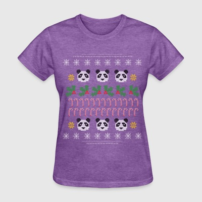 Panda Ugly Christmas Sweater  - Women's T-Shirt