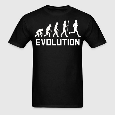 Runner Evolution Funny Running Shirt - Men's T-Shirt
