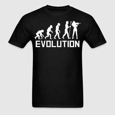 Violinist Evolution Funny Violin Shirt - Men's T-Shirt