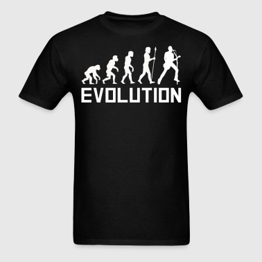 Lead Singer Guitar Evolution Funny Music Shirt - Men's T-Shirt