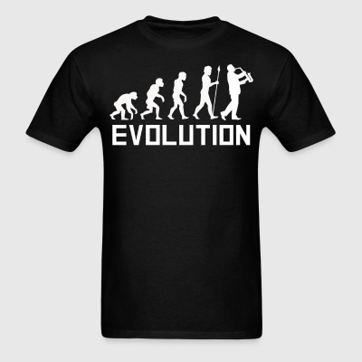 Saxophone Player Evolution Funny Music Shirt - Men's T-Shirt