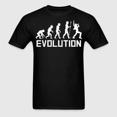 Lead Singer Evolution Funny Music Shirt - Men's T-Shirt