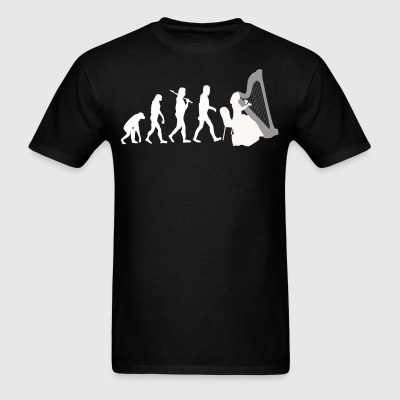 Harp Player Evolution Funny Music - Men's T-Shirt