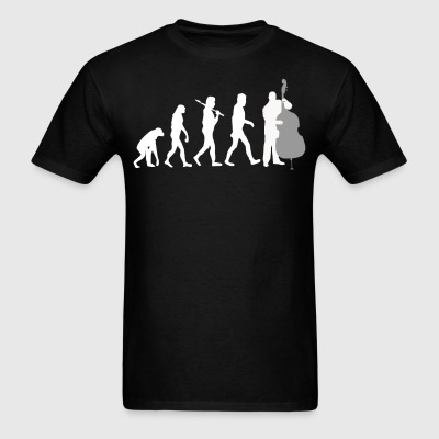 Double Bass Player Evolution Funny Music - Men's T-Shirt
