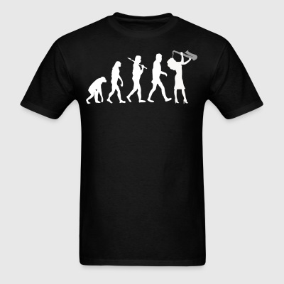 Saxophone Player Evolution Funny Music - Men's T-Shirt
