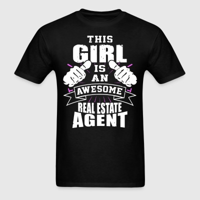 This Girl Is An Awesome Real Estate Agent Funny - Men's T-Shirt
