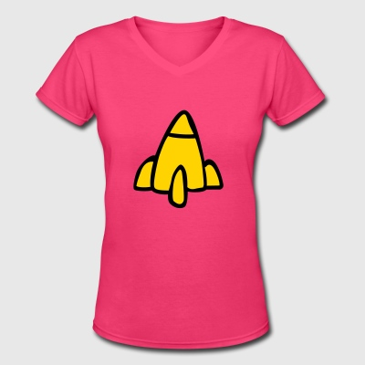 Rocket Power – Regina - Women's V-Neck T-Shirt