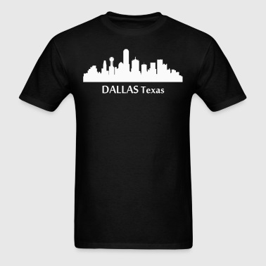 Dallas Texas Downtown Skyline Silhouette - Men's T-Shirt