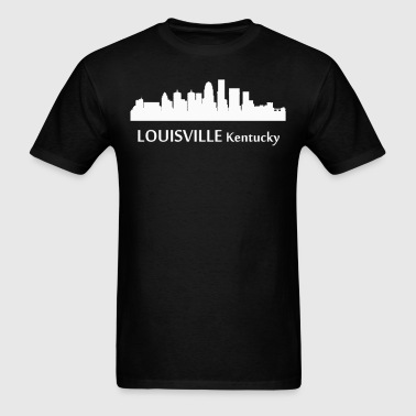 Louisville Kentucky Downtown Skyline Silhouette - Men's T-Shirt
