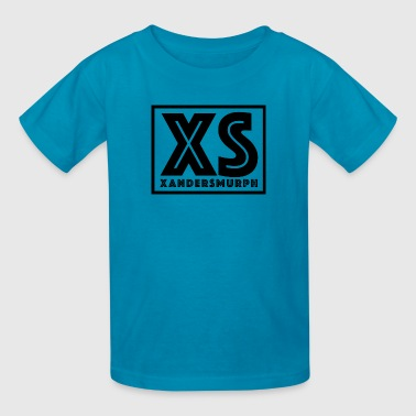 Xandersmurph Shirt - Blue shirt w Black Logo - Kids' T-Shirt