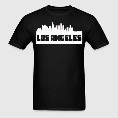 Los Angeles California Skyline Silhouette - Men's T-Shirt