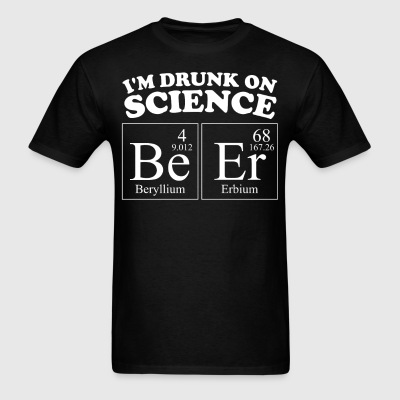 I'm Drunk On Science BeEr Periodic Elements Funny - Men's T-Shirt