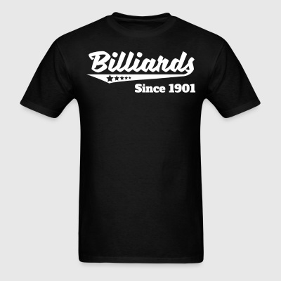 Billiards Since 1901 Retro Logo - Men's T-Shirt