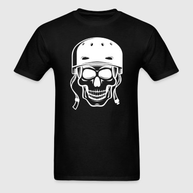 Skater Skull Skateboarding Graphic - Men's T-Shirt