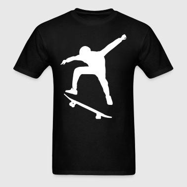 Big Skateboarder Silhouette Skateboarding - Men's T-Shirt