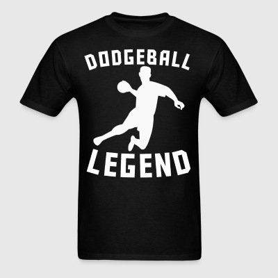 Dodgeball Legend Dodgeball Player Silhouette - Men's T-Shirt