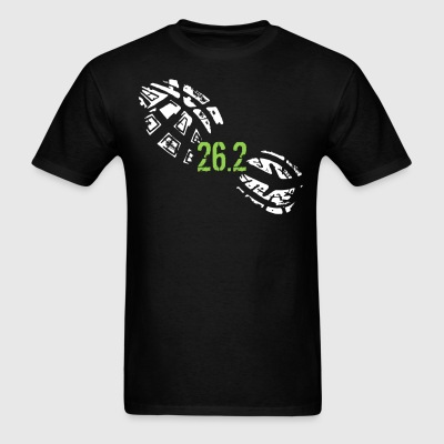 26.2 Miles Running Shoe Footprint Marathon Runner - Men's T-Shirt