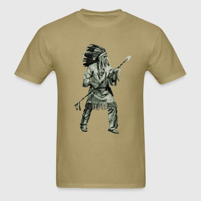 Native American Indian in Fighting Pose - Men's T-Shirt