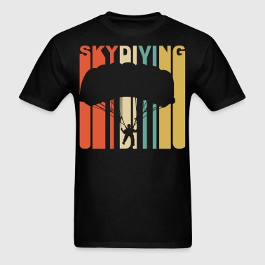 Retro 1970's Style Skydiver Silhouette Skydiving - Men's T-Shirt