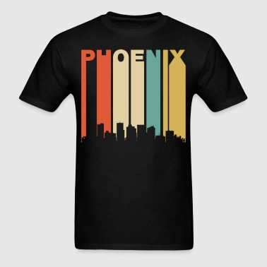 Retro Phoenix Arizona Cityscape Downtown Skyline - Men's T-Shirt