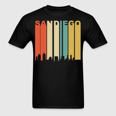 Retro San Diego California Downtown Skyline - Men's T-Shirt