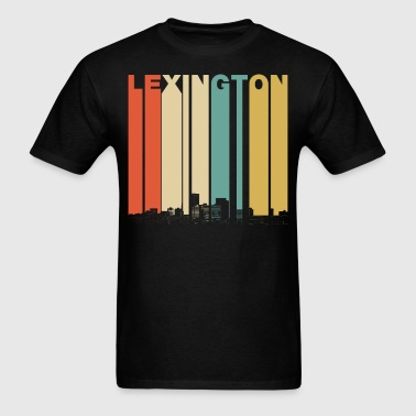 Vintage 1970's Style Lexington Kentucky Skyline - Men's T-Shirt