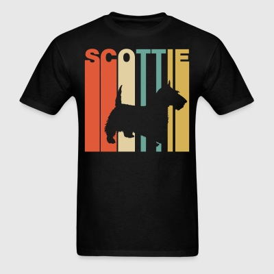Retro Style Scottie Silhouette Cool Dog Owner - Men's T-Shirt