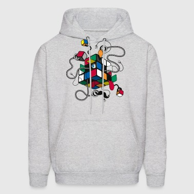 Rubik's Cube Illustrated - Men's Hoodie