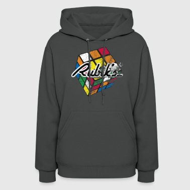 Rubik's Cube Distressed and Faded - Women's Hoodie