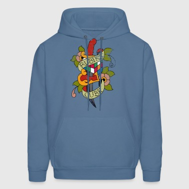 Rubik's Cube Colorful Tattoo Distressed - Men's Hoodie