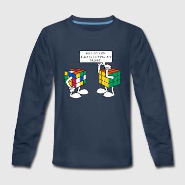 Rubik's Cube Complicate Things - Kids' Premium Long Sleeve T-Shirt