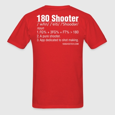 Definition of a 180 Shooter - Men's T-Shirt