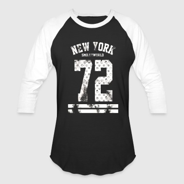 SmileyWorld New York City 72 White - Baseball T-Shirt